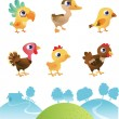 Set of different birds — Stock Vector