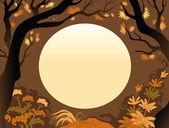 Фон осенние деревья — Cтоковый вектор