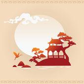 Abstracte aziatische achtergrond — Stockvector