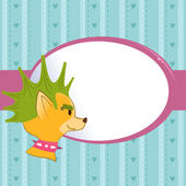 Greeting card with fashion dog — Wektor stockowy
