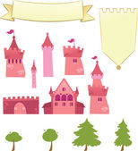 Set of Castle Design Elements — Stock Vector