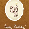 Happy Birthday Card with Candle Number — Imagen vectorial