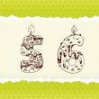 Collection of Birthday Candles: 5 and 6 — Stockvector #23208696