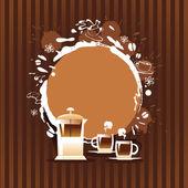 抽象背景与杯子和咖啡渍 — 图库矢量图片