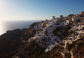 Sundown of Santorini island — Stock Photo