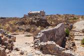 Gramvousa 岛屿堡垒建筑遗址 — 图库照片