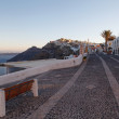 Street in Thira in the morning. Santorini island. — Stock Photo