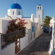 Narrow street in Mykonos island Greece Cyclades — Stock Photo