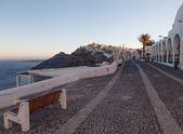 Street in Thira in the morning. Santorini island. — Stock Photo