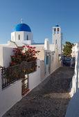 Narrow street in Mykonos island Greece Cyclades — Stock Photo