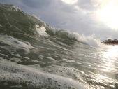 Beautiful Sea Wave. Sunlight. Vietnam. — Stock Photo