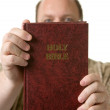 Man with bible — Stock Photo