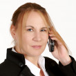 Mature businesswoman with cellphone — Stock Photo #21543623