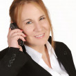 Mature businesswoman with cellphone — Stock Photo