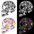 Skull in four versions — Stock Vector #41008391