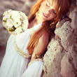 Portrait of the young beautiful bride — Stock Photo