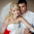 Young, beautiful and very happy - the bride and groom — Stock Photo #16212921