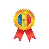 Andorra medal flag — Stock Vector