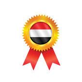 Yemen medal flag — Stock Vector