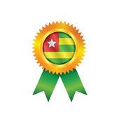 Togo-medaille-flag — Stockvektor