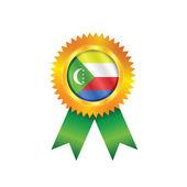 Comoros medal flag — Stock Vector