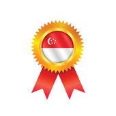 Singapore medal flag — Stock Vector