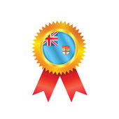 Fiji medal flag — Stock Vector