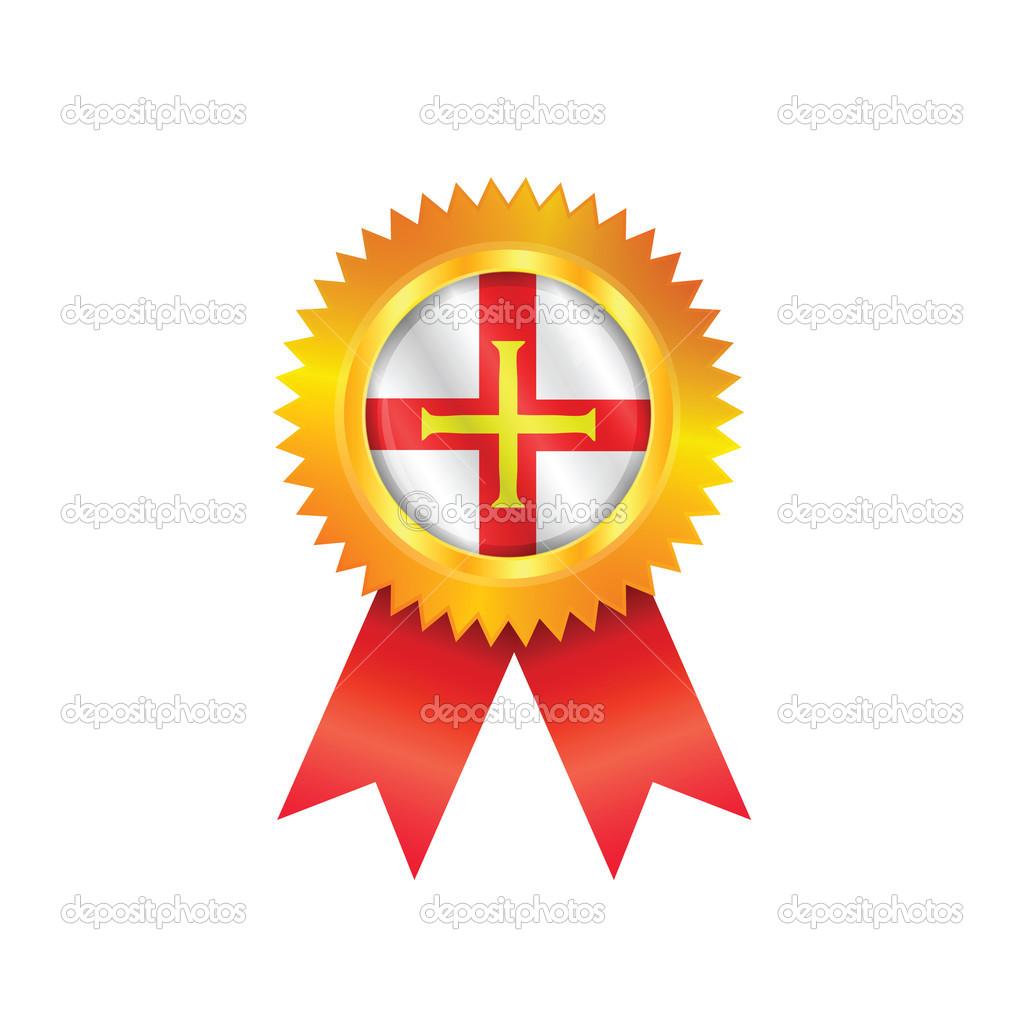 金牌与根西岛的国旗 — 矢量图片作者 sportactive