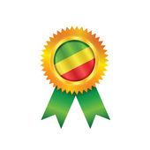 Congo medal flag — Stock Vector
