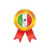 Mexico medal flag — Stock Vector