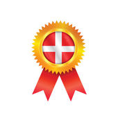 Denmark medal flag — Stock Vector