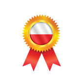 Poland medal flag — Stock Vector