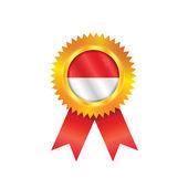 Monaco medal flag — Stock Vector