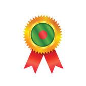 Bandera de bangladesh medalla — Vector de stock