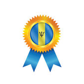 Barbados medaille vlag — Stockvector