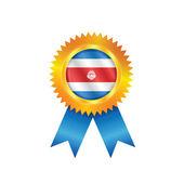 Costa Rica medal flag — Stock Vector
