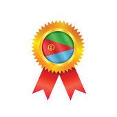 Eritrea medal flag — Stock Vector