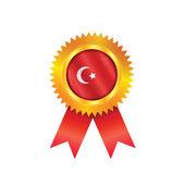 Turkey medal flag — Stock Vector