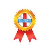 Antilles medal flag — Stock Vector