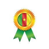 Cameroon medal flag — Stock Vector