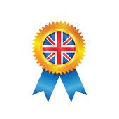 United Kingdom medal flag — Stock Vector