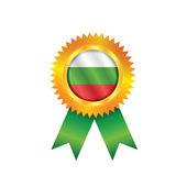 Bulgaria medal flag — Stock Vector
