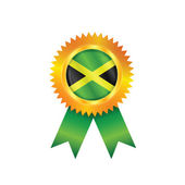 Jamaica medal flag — Vector de stock