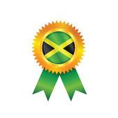 Jamaica medaille vlag — Stockvector