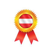 Austria medal flag — Stock Vector