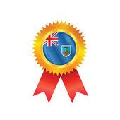 Montserrat medal flag — Stock Vector