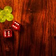 Lucky dice gamling — Stock Photo