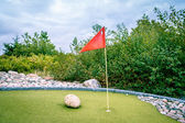 Minigolf cource — Stock Photo