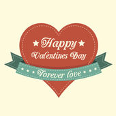 Vintage Valentines card — Stock Vector