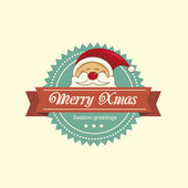 Santa christmas label — Vector de stock